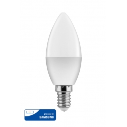 Λαμπτήρας Κερί LED E14 5W Warm White 3000K 400Lm Samsung IC