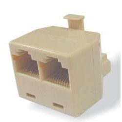 VCOM RJ 45 adapter 8p8c male / 2 fimale white empty CT253